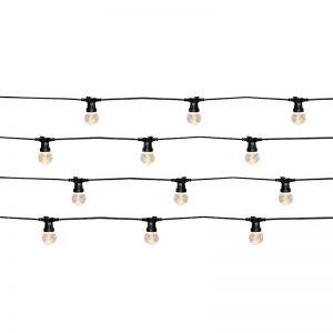 LEDlux Festoon II 20 Light LED Light Kit in Black and Warm White | By Beacon Lighting