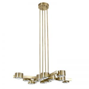 LEDlux Lugano LED 12 Light Pendant in Antique Brass | by Beacon Lighting