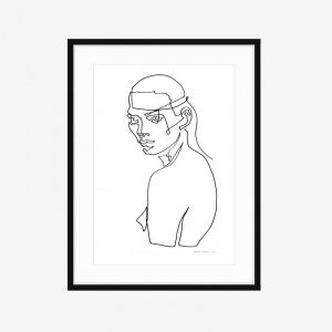 Leila | Limited Edition Fine Art Print | One Line by PHOLIO