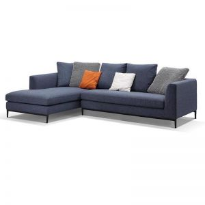 Leland 3 Seater with Left Chaise | Blue