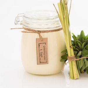 Lemongrass & Sage Soy Candle | Various Sizes