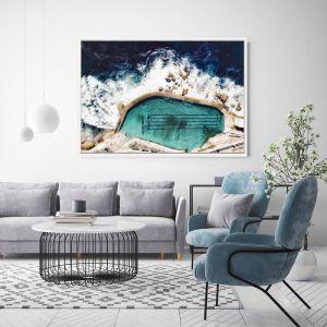 Lengths | Floating Framed Canvas Art