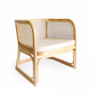 Lennox Rattan Club Chair | Natural | by Black Mango