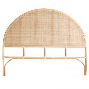 Lennox Rounded Rattan Bedhead | King | Natural | by Black Mango