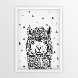 Lenny Llama | Unframed print