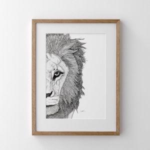 Leo the Lion Print