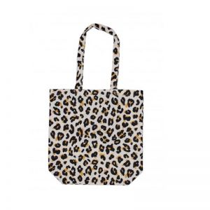 Leopard Cotton Shopping Bag