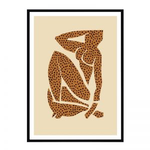 Leopard Picasso   Framed Art Print