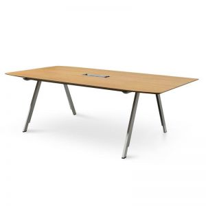 Leroy Wooden Boardroom Meeting Table | Natural