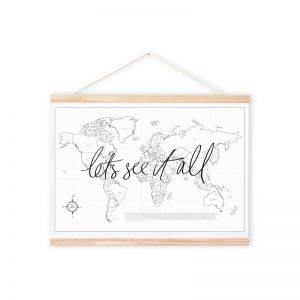 Let's See It All | Decorative Travel Map