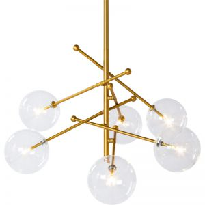 Lexi Pendant Light with LED G4 Bulbs | Brass | Schots