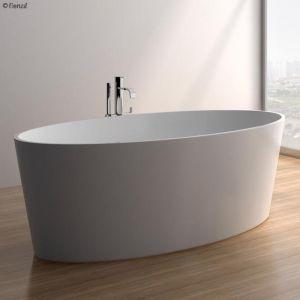 Lexy Matte White Stone Bath
