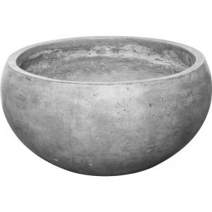 Lido 50x25cm Polished Concrete Planter Bowl | Dark Grey | Schots