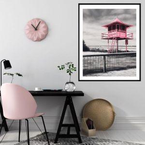 Lifeguard Box / P7017 / Framed Print / Colour Clash Studio