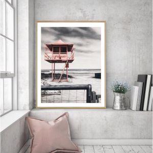 Lifeguard Box / P7018 / Framed Print / Colour Clash Studio