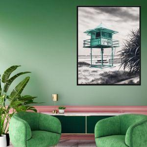 Lifeguard Box / P7020 / Framed Canvas / Colour Clash Studio