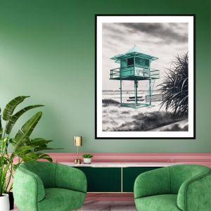 Lifeguard Box / P7020 / Framed Print / Colour Clash Studio