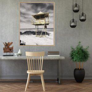 Lifeguard Box / P7021 / Framed Canvas / Colour Clash Studio