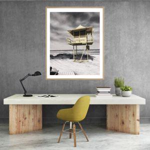 Lifeguard Box / P7021 / Framed Print / Colour Clash Studio