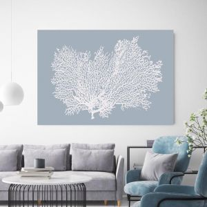 Light Blue Coral | Canvas Wall Art by Beach Lane