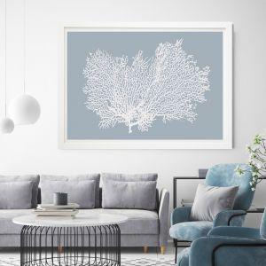 Light Blue Coral | Framed Art