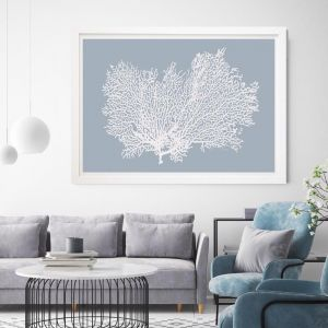 Light Blue Coral | Framed Wall Art by Beach Lane