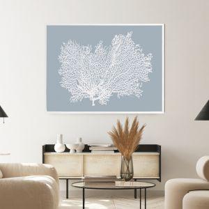Light Blue Coral | Shadow Frame Art