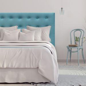 Light Blue Velvet Buttoned Bedhead | All Sizes | Custom Made by Martini Furniture