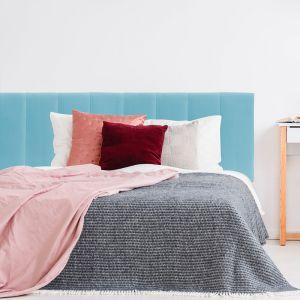 Light Blue Velvet Panelled Upholstered Bedhead | All Sizes | Custom Made by Martini Furniture