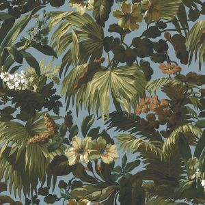 Limerence Botanical Wallpaper | Sky Blue