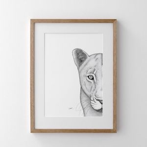 Linda the Lioness   Print