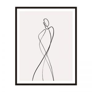Line Girl 1 | Framed Print | Artefocus