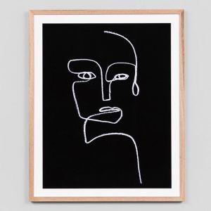 Line Portrait Night 1 | Framed Art Print