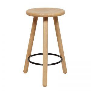 Linea Barstool | Pre Order | Oak/Black Footrest