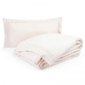 Linen Duvet Cover Set | Desert Blush