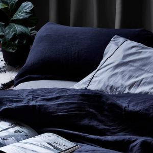 Linen Duvet Cover Set | Ink