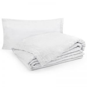 Linen Duvet Cover Set - Mist