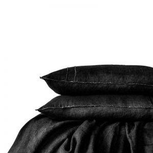 Linen Duvet Set | Queen Size |Black