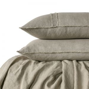Linen Duvet Set | Queen Size | Natural