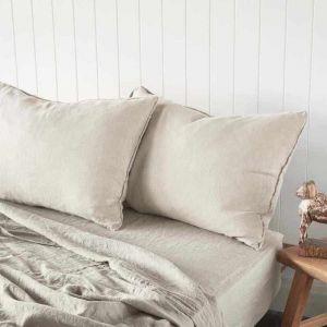 Linen Euro Pillowcases   Natural