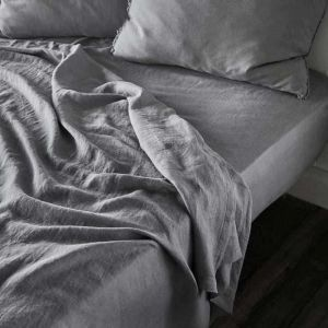 Linen Fitted Sheet | King Size | Slate