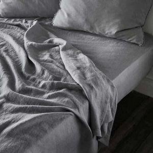 Linen Flat Sheet | King Size | Slate