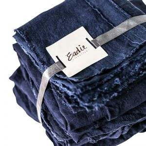 Linen Sheet Set | King Size | Navy
