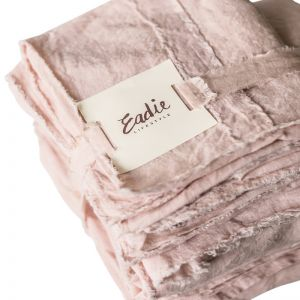 Linen Sheet Set | King Size | Soft Pink