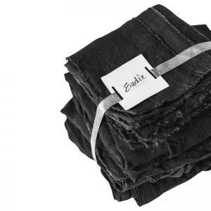 Linen Sheet Set | Queen Size | Black