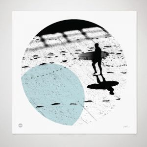 Lines in the Sand | Framed Circle Print by Burbia