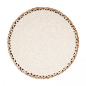 Linnet Jute Braided Round Placemat | Set Of 4