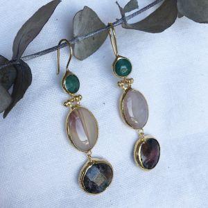 Litsa Triple Drop Earrings
