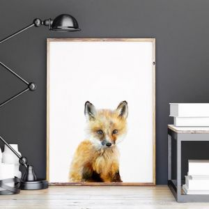 Little Fox by Amy Hamilton | Unframed Art Print