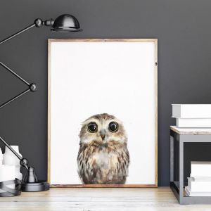 Little Owl by Amy Hamilton | Unframed Art Print